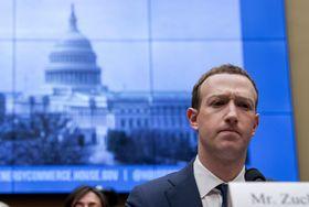 フェイスブックのザッカーバーグCEO=2018年4月、ワシントン(AP=共同)