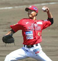 【新潟―福島】9失点と試合の流れをつくれなかった福島の先発久能=佐藤池球場