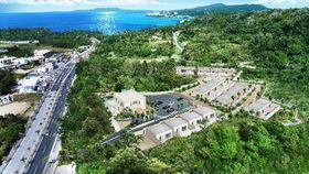 恩納村山田に19年5月開業予定のヴィラタイプのホテル「U―MUI」の完成予定図(セドナコーポレーション提供)