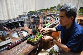 趣味のジオラマ製作を通じ、被災地への寄付を行っている石田さん