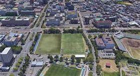 新スタジアムの候補地となっている八橋運動公園