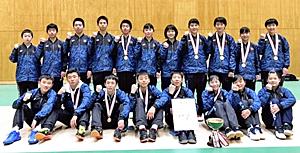 全日本中学バドは福島県「3連覇」 富岡一、転学前に有終の美