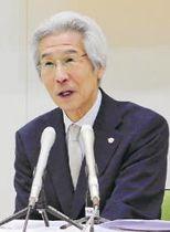 新社長に就任し、チームのJ1定着へ意気込みを語る菊池氏