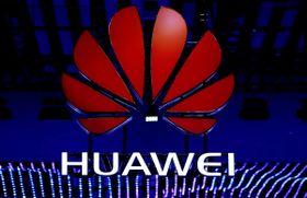 華為技術(ファーウェイ)のロゴ=18年2月、バルセロナ(ロイター=共同)