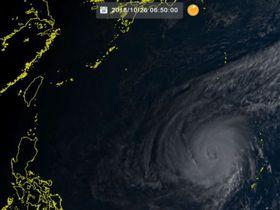 26日6時50分の台風26号(ひまわり8号リアルタイムwebから)