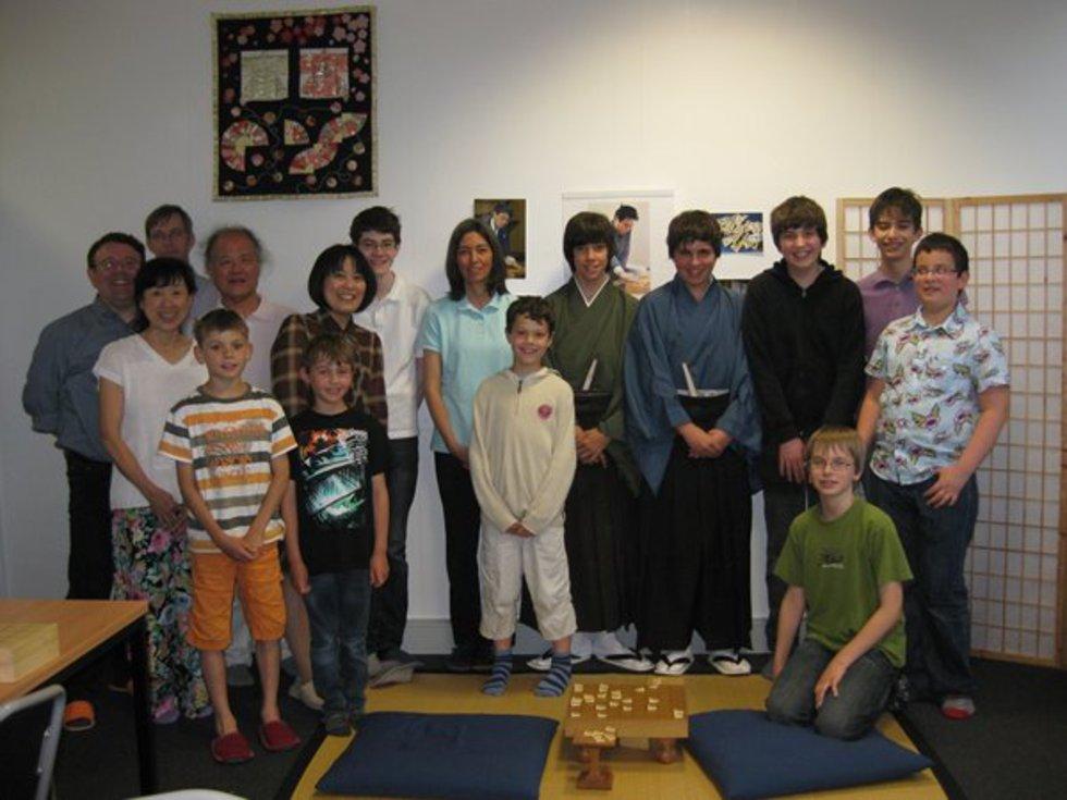 カールスルーエ将棋クラブの皆さんと=2012年5月