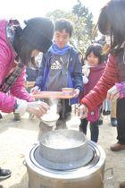 かまどで炊いた「水主米」のご飯を提供した第1弾のイベント