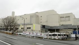 20日に火災が起きたトヨタ車体いなべ工場=21日午後、三重県いなべ市