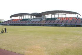 ニュージーランドと南アフリカの練習場に使われるとみられる市光明寺公園球技場=一宮市光明寺で