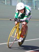 自転車男子3000メートル個人追い抜きで3位入賞した三浦蓮海=久留米競輪場
