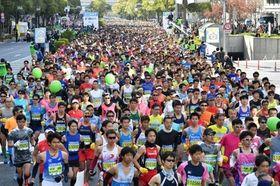 昨年11月にあった第7回神戸マラソン