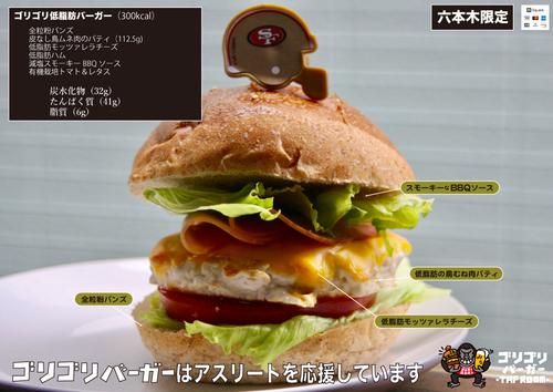 多聞さんが開発した「低脂肪バーガー」は、アスリートも安心して食べられる