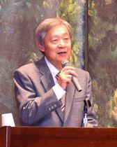 「小村寿太郎と日英同盟」をテーマに講演する甲斐さん