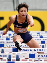 日本選手権女子100メートル障害で好記録を狙う木村