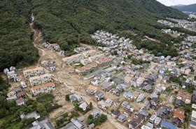 2014年8月、局地的な豪雨による土石流の被害を受けた広島市安佐南区の住宅街