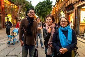 中国で人気観光地の福州・三坊七巷で