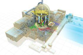 トルコで建設が計画されていた新型原子炉のイメージ図(三菱重工業提供)