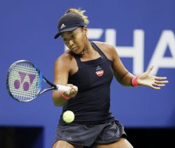 全米オープン決勝でセリーナ・ウィリアムズと対戦する大坂なおみ=8日、ニューヨーク(共同)