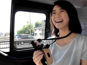 ロボホンが京都の観光地をガイドする「京の『ロボ旅』タクシー」のイメージ