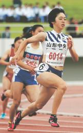 総体 東北大会 陸上 青野朱(山形中央)2年連続5冠の快挙