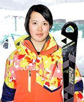 女子回転、今村14位 全国高校スキー