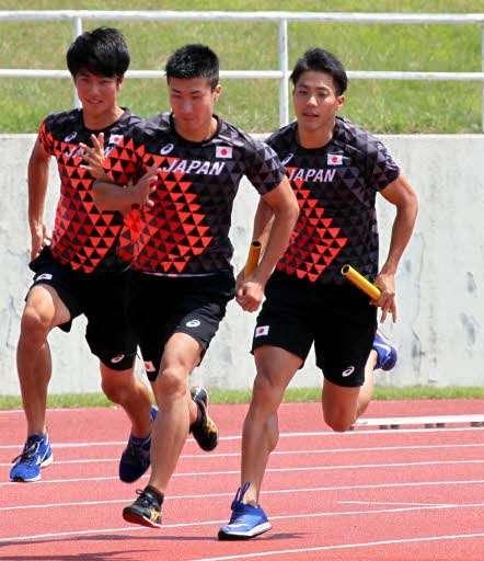 山縣が第1走者、陸上男子400リレー アジア大会