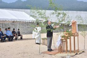 シーズン中の無事故を祈った吉里吉里海岸海水浴場の安全祈願祭