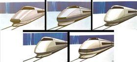新幹線100系の構想段階のデザイン案(JR東海提供)