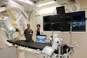 不整脈のカテーテル治療などを行う循環器病センター