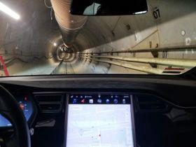 ロサンゼルスでイーロン・マスク氏が進める実験用地下トンネル(ボーリング社提供・共同)