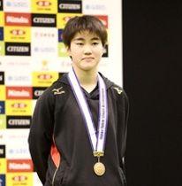 ジュニアの部女子シングルスで3位入賞した大藤沙月=東京体育館(ニッタク提供)