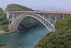 佐世保市針尾島と西海市を結ぶ西海橋(西海市側から撮影)