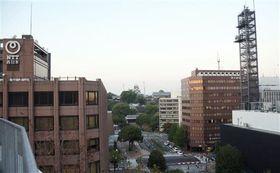 熊本城天守閣(中央)を中心とした景観が維持されてきた中心市街地=熊本市中央区