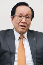 インタビューに応じるイトーヨーカ堂の三枝富博社長