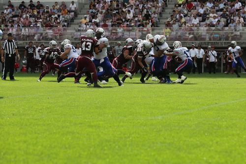 「杜の都」の名にふさわしい鮮やかな緑のフィールド=撮影:Yosei Kozano、9月1日、ユアテックススタジアム仙台