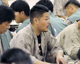 DeNAの選手会納会に参加した筒香嘉智外野手=20日、静岡県伊豆市