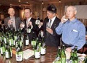 「掛川城酎」完成祝う 29日から限定1300本販売