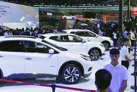 開幕した「広州国際モーターショー」=22日、広州(共同)