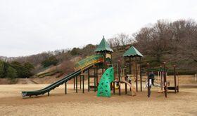 「ふわふわドーム」や大型遊具の新設を予定している芝生広場=伊勢原市西富岡の市総合運動公園