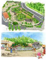 上野動物園に整備予定の「パンダのふるさとゾーン(仮称)」のイメージ(東京都提供)