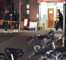 神戸山口組の幹部が射殺された現場付近=11月27日、兵庫県尼崎市