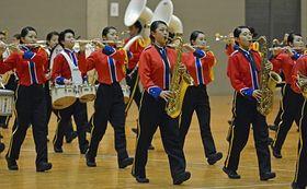 東北大会出場を決めた弘前実業高校の演奏