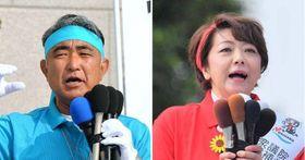 衆院沖縄3区補選に立候補した屋良朝博氏と島尻安伊子氏