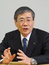 インタビューに答える三菱重工業の宮永俊一社長
