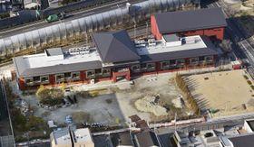 森友学園が小学校建設を目指していた大阪府豊中市の国有地=3月