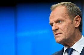 欧州連合(EU)のトゥスク大統領=10月18日、ブリュッセル(ロイター=共同)