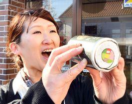 節分に合わせ限定販売する恵方巻ビール
