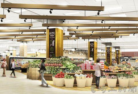 リニューアル後の野菜・果物売り場のイメージ写真。地元の野菜も多く並ぶ(イオンリテール提供)