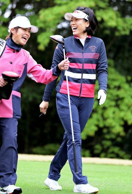 大山ら宮崎県勢、本番想定 アクサ女子ゴルフ、公式練習