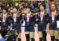 全日本高校バレー 誠英、高川学園決勝進出ならず